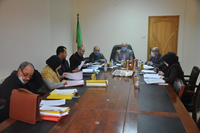 The meeting of the deals committee of Larbi Tebessi University