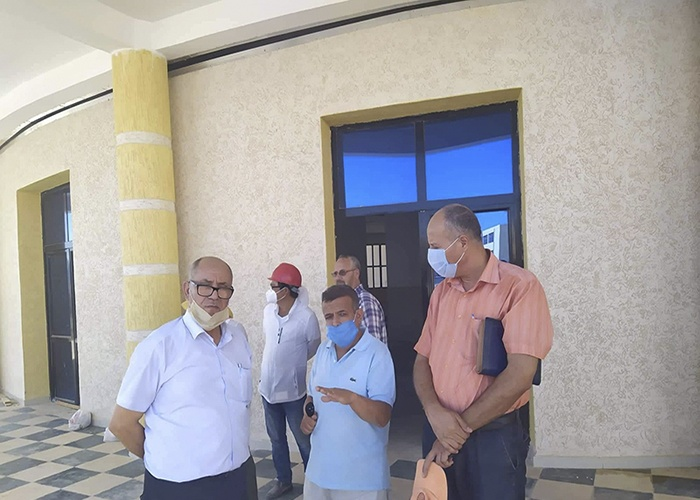 An inspection visit to the new university pole in Boulhaf El-Dir