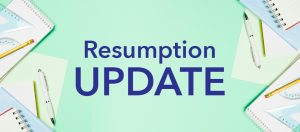 Read more about the article Announcement regarding the resumption of work