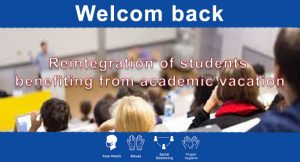Read more about the article Reintegration of students benefiting from academic vacation