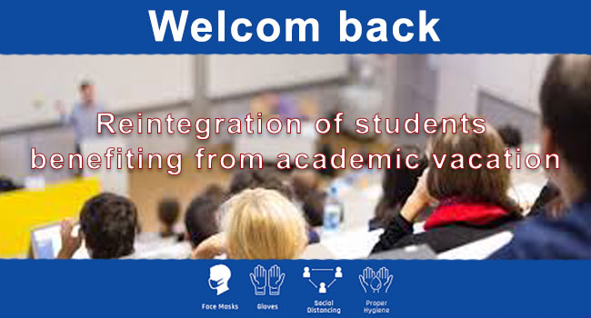 You are currently viewing Reintegration of students benefiting from academic vacation